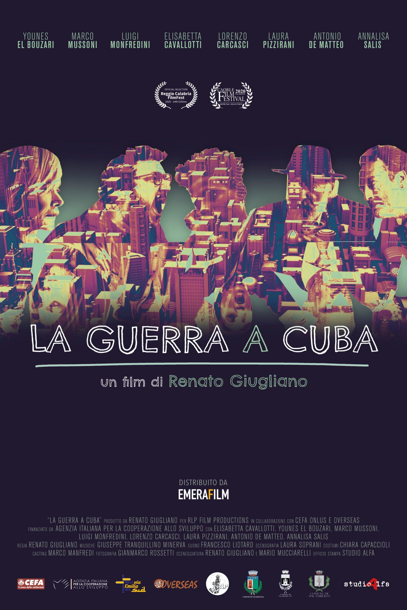 "Poster for the movie ""La guerra a Cuba"""